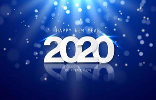 Banner di felice anno nuovo 2020 vettore