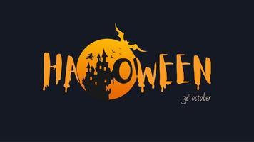 Banner di felice halloween vettore