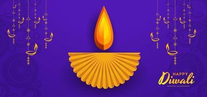 Festival delle luci indiano, progettazione della cartolina d'auguri di celebrazione di Diwali