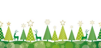 Foresta di Natale senza soluzione di sfondo
