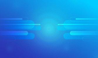 Sfondo blu con cerchi sottili vettore