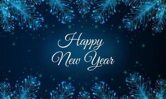 Cartolina d'auguri di felice anno nuovo astratto 2020 con rami di albero in forma. vettore