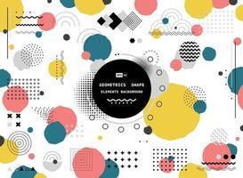 Design moderno geometrico di forma colorata
