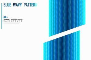Disegno del manifesto ondulato blu vettore