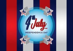 4 luglio giorno dell'indipendenza dello sfondo vettore