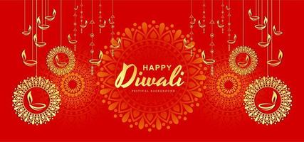 Felice Diwali Festival Template Background