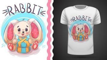 Coniglio pasquale felice - idea per t-shirt stampata