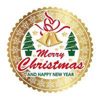 Emblema o distintivo di Natale