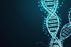 Illustrazione della struttura del concetto di DNA vettore