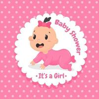 Design per baby shower vettore