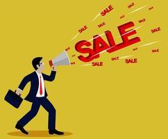 Concetto di annuncio di vendita di affari
