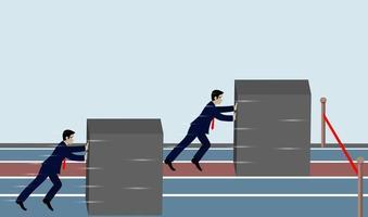 Spingendo per il successo Concetto di business