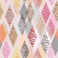 Doodle di colore a forma di rombo con sfondo trasparente