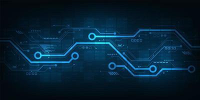 Progettazione di circuiti digitali su uno sfondo blu scuro vettore