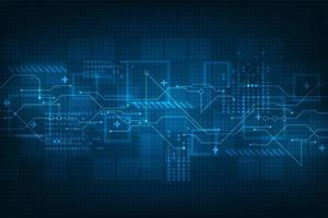 Display digitale futuristico tecnologia astratta