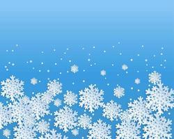 Sfondo di design di fiocchi di neve