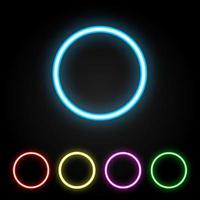 Anello al neon colorato vettore