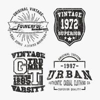 Set di francobolli vintage