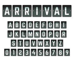 Modello di carattere Flip Card Alphabet