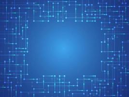 Cornice elettronica digitale blu incandescente