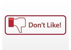 Pulsante antipatia di Facebook vettore