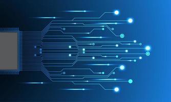Circuito elettronico futuristico