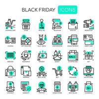 Icone nere perfette di Black Friday e Pixel