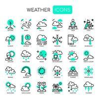 Icone di tempo sottile linea e pixel perfetti vettore