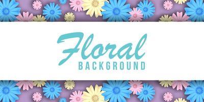 Banner di sfondo floreale pastello