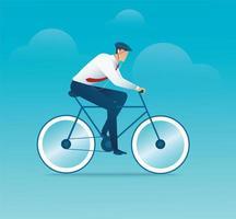 uomo in bicicletta vettore
