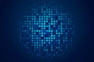 Lustro tecnologico sfondo blu vettore