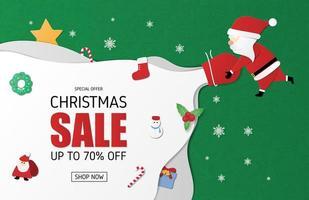 Banner di vendita di Natale vettore