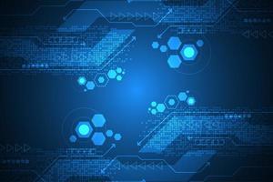 Fondo astratto di tecnologia digitale con esagoni vettore