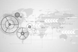 Concetto di tecnologia globale grigio e bianco