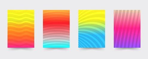 Set di modelli di copertina gradiente brochure vettore