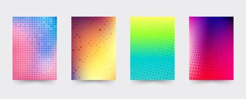 Set di modelli di copertina gradiente brochure