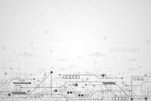 Concetto di circuito astratto bianco e nero