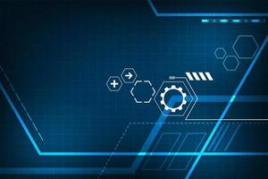 Cornice digitale blu incandescente astratta di tecnologia vettore