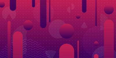 Forme geometriche arrotondate geometriche viola e rosa 3d vettore