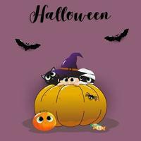 Zucca di Halloween sullo sfondo