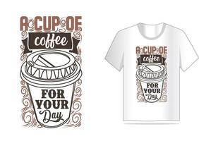 tipografia vintage caffè per design t-shirt vettore