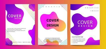 Set di copertine di colori fluidi vettore