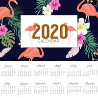 2020 design del calendario tropicale