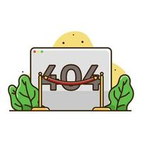 pagina di errore 404 Illustrazione