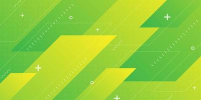 Forme sovrapposte ad angolo diagonale verde giallo vettore