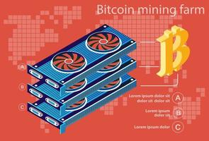 Bitcoin elettronico isometrico