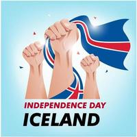 Bandiera di festa dell'indipendenza dell'Islanda vettore