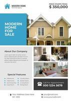 Design moderno volantino casa corporativa immobiliare