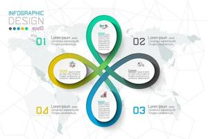 Opzioni del passo di affari e modello astratto di opzioni di numero di infographics.