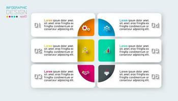 Infographics di orizzonte su arte grafica vettoriale.